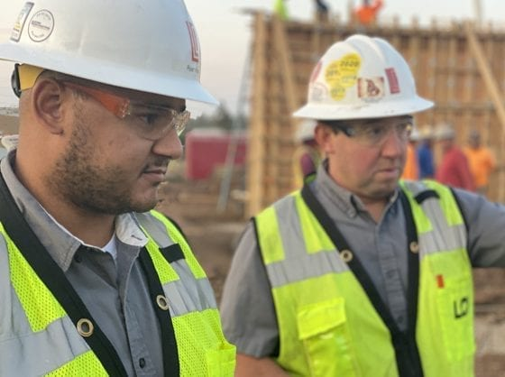 Ryan King and Brett Woods on Loven Contracting construction site